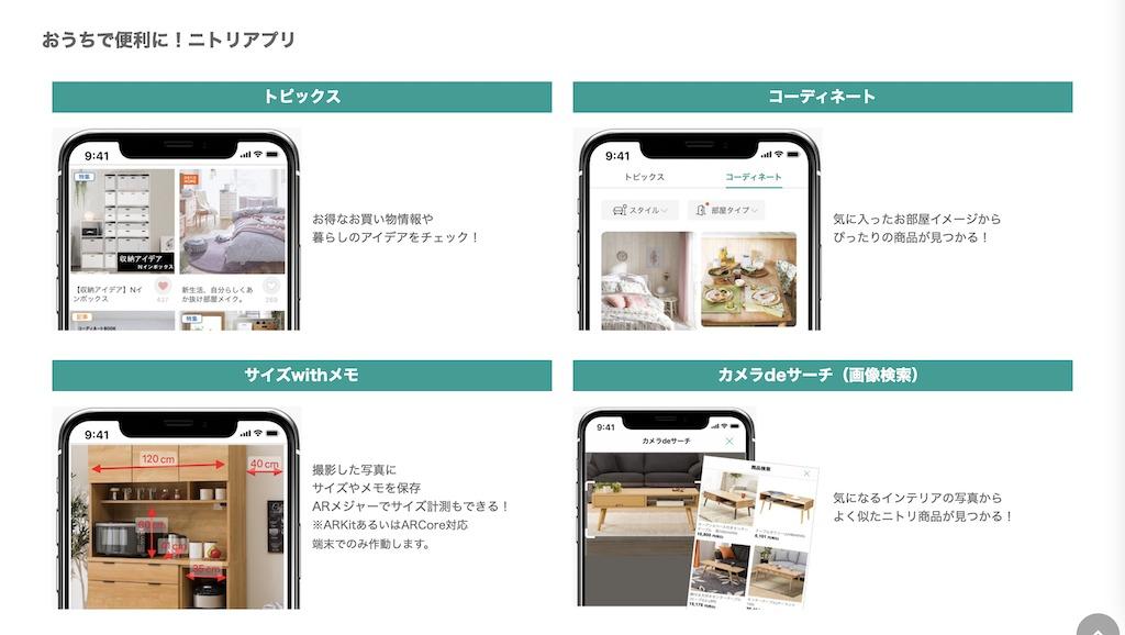 ARメジャー、画像検索で買物が一層便利に。「ニトリアプリ」の進化